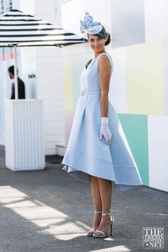 The Best Street Style From Melbourne Cup 2015 - The Trend Spotter Ladies Day Outfits, Race Day Outfits, Derby Outfits, Races Outfit, Ascot Outfits 2018, Horse Race Outfit, Derby Attire, Kentucky Derby Outfit, Kentucky Derby Fashion