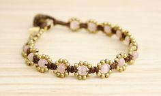 Pink Opal Bracelet White Agate - Red Jasper Bracelet Turquoise Bracelet #jewellery #handmade #boho #hippie #fashion #summer #oriental #gemstones #powerstones #bracelet #brass #opal