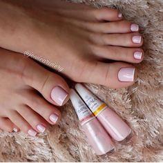 53 Ideas For Pedicure Polish Toe Perfect Nails, Gorgeous Nails, Pretty Nails, Feet Nails, My Nails, Toe Nail Designs, Nails Design, Simple Nails, Manicure And Pedicure