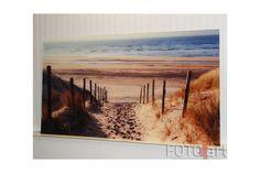 Foto op Plexiglas Zandweg aan Noordzee bij zonsondergang