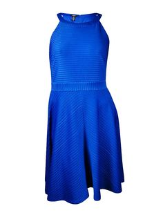 Alfani Womens Plus Ribbed Halter Cocktail Dress * Discover this special product, click the image : Plus size dresses