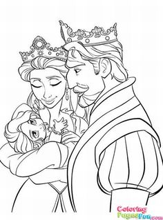 Tangled Rapunzel Coloring Pages 25