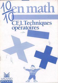 Loumardin, Clécy, Techniques opératoires CE1 (1989) Antique Books, Slide Show, Keyboard, Index Cards