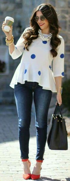 80 casual summer work outfits to wear to office cute outfits Casual Work Outfit Summer, Look Casual, Casual Outfits, Cute Outfits, Fashion Outfits, Jeans Fashion, Summer Outfits, Work Fashion, Trendy Fashion