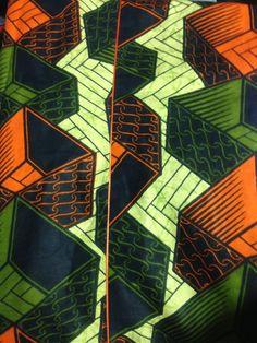 Beautiful African wax print fabric from Senegal