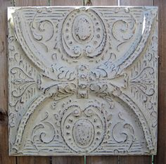 I'm obsessed with tin ceiling tiles!    2'x2' Antique Ceiling Tin Tile Circa 1910  by DriveInService, $59.00