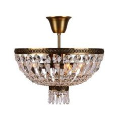 Worldwide Lighting Metropolitan Collection 3-Light Antique Bronze and Clear Crystal Semi Flush Mount W33087B16 at The Home Depot - Mobile