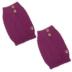Bearpaw Womens Pebble Knit Boot Toppers Pink Pebble Buttons OS >>> Want additional info? Click on the image.