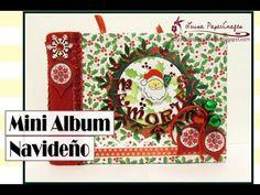 Mini álbum navideño con espina de acordeón - Crafts & Scrap Workshop
