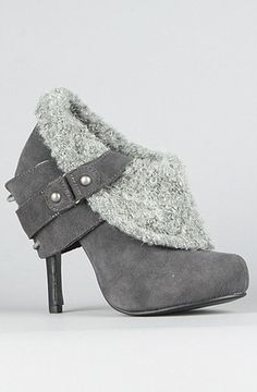Naughty Monkey The Purr Shoe in Gray