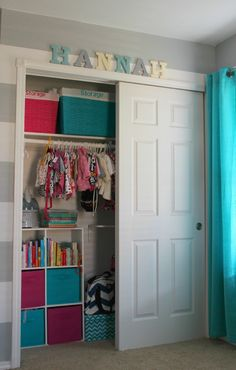 Great nursery closet! love the organization!