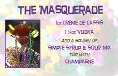 The Masquerade Cocktail #fattuesday