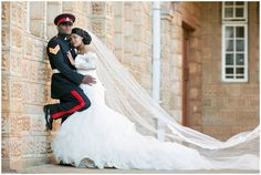 Wedding Ball Gown and Military Suit - African Weddings Ebontu Wedding Dresses South Africa, Military Suit, African Weddings, Custom Wedding Dress, Ball Gowns, Bride, Beautiful, Fashion, Ballroom Gowns