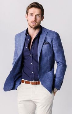 blazer num top todo azul