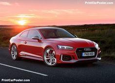 Audi RS5 Coupe 2018 poster, #poster, #mousepad, #tshirt, #printcarposter