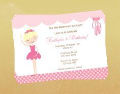 Printable Cute Little Ballerina Birthday Party by BusyBeeDesign1, $8.00
