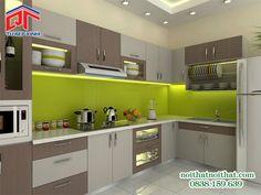 Tủ bếp MFC chữ L thiết kế đơn giản, tiện nghi PTM31