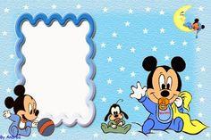 Invitaciones o Marcos para Fotos de los Bebés Disney para Imprimir Gratis.