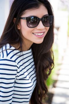 Stripes and Sunglasses Outfit Inspiration- Stylishlyme.com