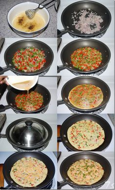 Omelette Lunch Box Recipes, Salad Recipes, Breakfast Recipes, Indian Food Recipes, Vegetarian Recipes, Easy Cooking, Cooking Recipes, Veg Thali, Indian Street Food