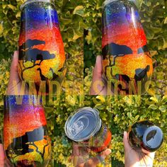 I'm totally getting African Safari/Lion King vibes from this one. Safari Theme, Jungle Theme, Diy Tumblers, Glitter Cups, Tumbler Designs, Personalized Cups, African Safari, Tumbler Cups, Resin Art