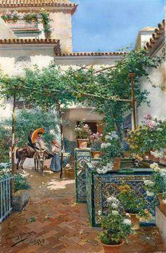 Manuel García y Rodríguez - Un patio de Sevilla #1