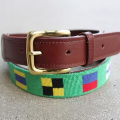 Home > Clothing > Nautical Belts ANY OF OUR NAUTICAL BELT DESIGNS MAKE THE PERFECT GIFT FOR DAD! PLEASE NOTE ON SIZING: Jim has measured his own waist with a cloth tape measure, to give you the most accurate measurement possible when selecting your size belt.