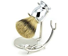 Keep your brush and your razor in healthy, long-lasting condition with this stainless steel shave stand. By hanging a brush with the bristles facing downward, increased airflow dries your brush out quickly and completely. Available at House of Knives.