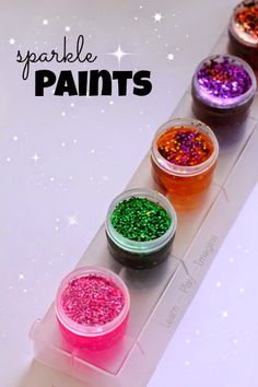 The most gorgeous glitter paint recipe ever, and it only takes two minutes to make!