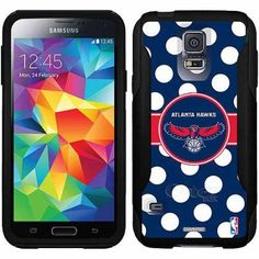 Atlanta Hawks Polka Dots Design on OtterBox Commuter Series Case for Samsung Galaxy S5