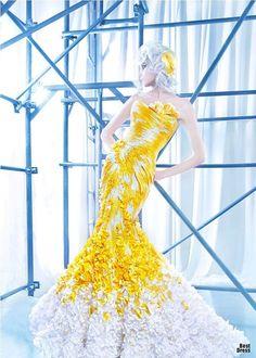 Nicolas Jebran Haute Couture @}-,-;--    COTTON BALLS!