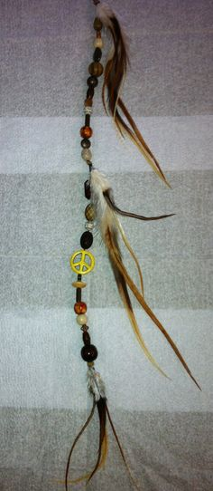 Beaded Feather Hair Extension by Sagelane1 on Etsy, $30.00