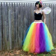 Neon Rainbow Faerie Formal Alternative Wedding Skirt Fae All Sizes MTCoffinz Rainbow Wedding Dress, Wedding Skirt, Unusual Wedding Dresses, Fairy Photography, Skirts For Kids, Neon Rainbow, Creative Costumes, Alternative Wedding, Faeries