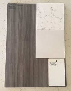 Colour Selection- Laminex Lustrous Elm Nuance Finish, Laminex Polar White Silk, essastone Fino Venato (island) & essastone Saint Moritz
