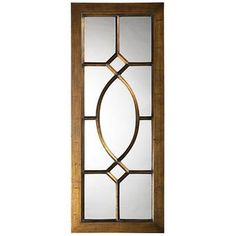 The item for sale is the Howard Elliott Dayton Window Mirror. This Transitional mirror features a large rectangular frame with a lovely window pane design right over the glass of the mirror. It is finished in an aged bronze and is accented with black high Window Mirror, Window Wall, Window Panes, Floor Mirrors, Window Design, Door Design, Home Window Grill Design, Transitional Wall Mirrors, Transitional Style
