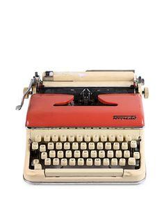 Torpedo Vintage Typewriter, Ivory/Pink at MYHABIT