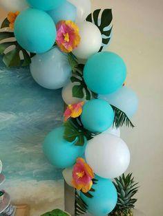 Moana Birthday Party Ideas Photo 3 of 7 6th Birthday Parties, Third Birthday, Moana Birthday Party Ideas, Moana Theme Birthday, 5th Birthday Party Ideas, Thema Hawaii, Hawaiian Birthday, Hawaiian Parties, Hawaiian Luau