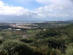 Landscape view over Setúbal in Portugal .