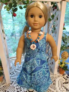 """South of the Border 18"""" Doll Dress to fit your 18"""" American Girl Doll by Emmakate0 on Etsy"""