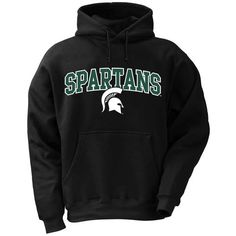 NCAA Michigan State Spartans Mens Pro Weight College Logo Fleece Hoodie