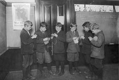 Seattle Public Schools, Boys Knitting 1918