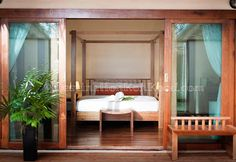 The interior of the new beachfront bungalows at Peter Pan Resort, these rooms are called Anemone Fish (Koh Kood, Thailand)