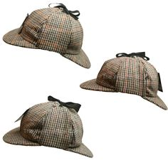 9e2273010c3 Country Wool Tweed Deerstalker Hat Sherlock Holmes Hunting Cap with Ear  Flaps