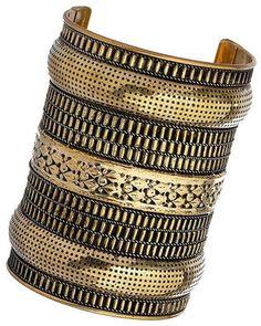 c1ccf93581a ShopStyle: Gold Wide Detail Cuff Tribal Bracelets, Metal Bracelets, Desert  Fashion, Wallis