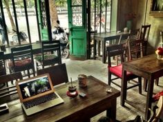 Cong Caphe Cafe - Hanoi (Vietnamese iced coffee and coconut frozen yoghurt)