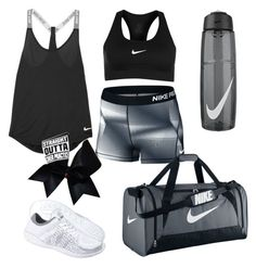 """How to wear Cheer Practice"" by leah-1x on Polyvore featuring NIKE and Chassè"