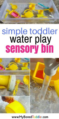 simple toddler sensory bin water play for toddlers toddler activities summer and spring toddler fun preschool activities water play sensory bins sensory play ideas #waterplay #sensorybin