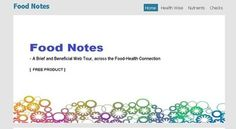 """Download FREE SAMPLE Version - """"Food Notes - A Brief and Beneficial Food  Health Web Tour"""