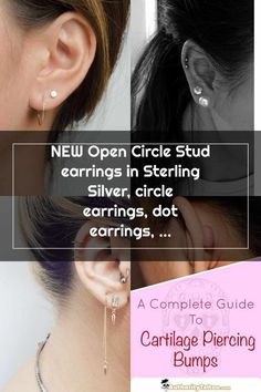 Double Cartilage Piercing Hammered Hoops, Sterling Silver, Gold Plated, Gold Filled, EAR002 - #EAR002 #Filled #gold #Hammered #Hoops #Plated #Silver #Sterling #hoopearrings Double Cartilage Piercing Piercing Bump, Double Cartilage Piercing, Ear Piercings, Circle Earrings, Diamond Earrings, Pearl Earrings, Helix Hoop, Sterling Silver Earrings, Gold