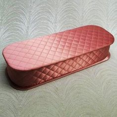 Vintage 50s Quilted Rose Pink Satin Glove Box with Lid....Organizer....Jewelry - LoveItSoMuch.com